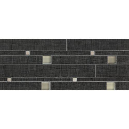 Linen Floor and Wall Mosaic in Ebony