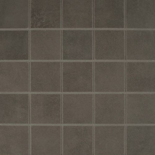 "Metro Plus 2"" x 2"" Floor & Wall Mosaic in Stealth Jet"