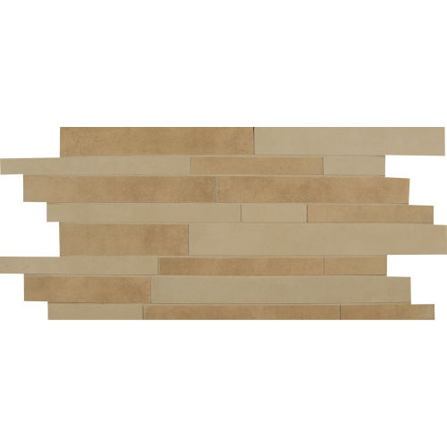 Metro Plus Floor and Wall Mosaic in Coco Rum / City Slicker
