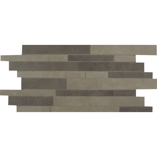 Metro Plus Floor & Wall Mosaic in Stealth Jet / Manhattan Mist