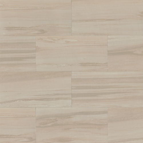"Rose Wood 12"" x 24"" x 3/8"" Floor and Wall Tile in Off White"