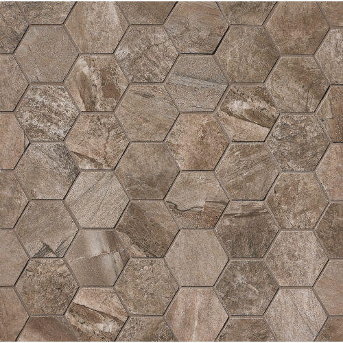 Stone Mountain Floor & Wall Mosaic in Taupe
