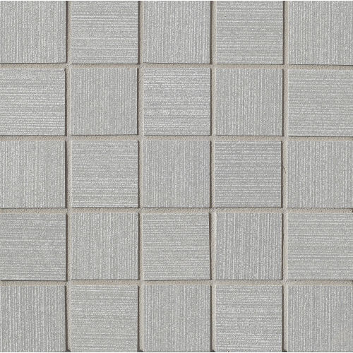 "Strands 2"" x 2"" Floor & Wall Mosaic in Silver"