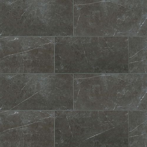 "Troy 12"" x 24"" Floor & Wall Tile in Nero"