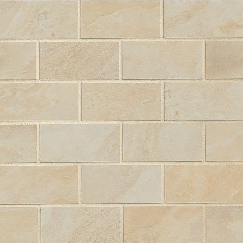 "Vinezia 2"" x 4"" Floor & Wall Mosaic in Alabaster"