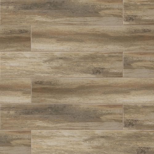 "Distressed 8"" x 36"" x 3/8"" Floor and Wall Tile in Ciliegia"