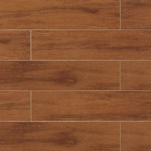 "Prestige Collection 6"" x 24"" Floor & Wall Tile in Cherry"