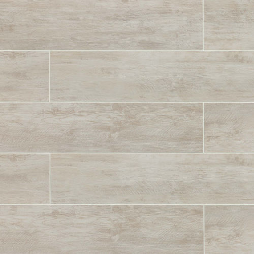 "River Wood 8"" x 36"" Floor & Wall Tile in Blanc"