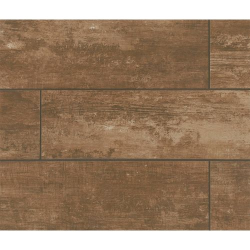 "Vintage 8"" x 24"" Floor & Wall Tile in Walnut"