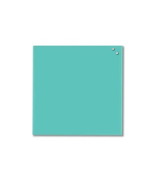 NAGA Magnetic Glass Noticeboard Turquoise 100 x 100cm