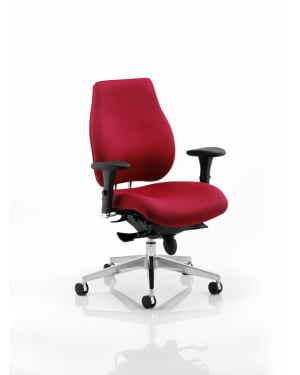 Chiro Plus 'Ergo' Posture Chair with Arms, Wine Fabric