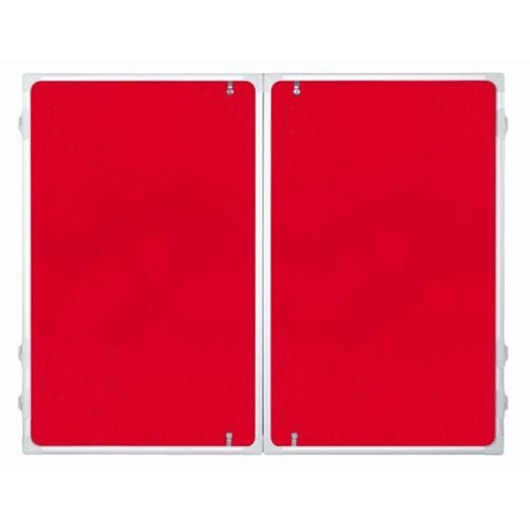Franken Red Felt Indoor Display Case 150 x 120cm