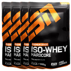 Iso Whey Hardcore 4er Pack