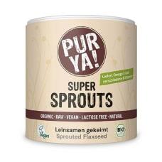 Super Sprouts Leinsamen gekeimt