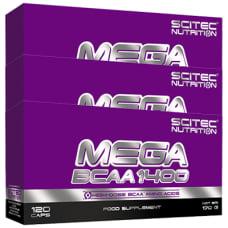 Mega BCAA 1400 Blister BOX 3er Pack