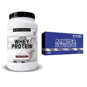 100% Whey Protein + Gratis Mega Glutamine