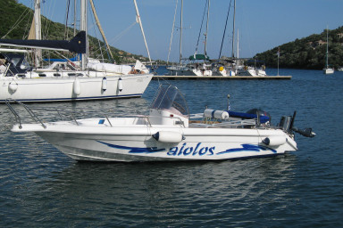 FOR RENT -Open Hard Body speed boat of 5,86 m long-