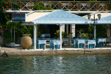 A tavern situated 2 minutes walk from the villa Sivota