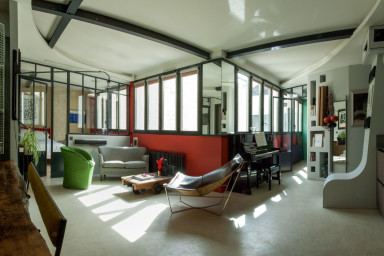Appartement/loft de 2 chambres d'un galeriste dans le Marais (4 personnes)
