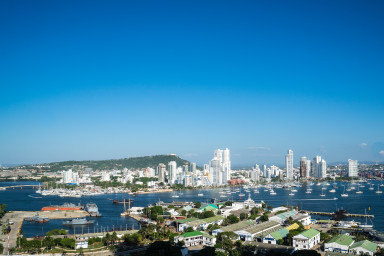 Stunning View Apt  at H2/ HYATT walking distance to Old Town Cartagena