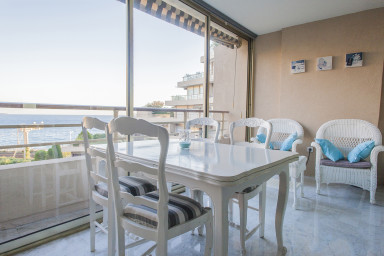 This tastefully renovated in 2015 apartment has a nice terrace with an i...