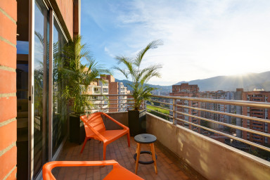 furnished apartments medellin penthouse - Ceylan Duplex 2410 BRAND NEW Penthouse with Pool in Poblado