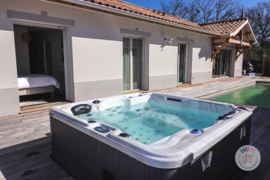 Villa neuve avec piscine chauffée et Jacuzzi près d'Arcachon