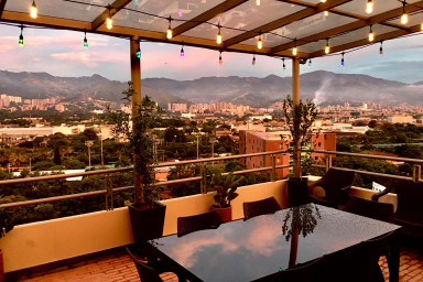 furnished apartments medellin penthouse - Patio Bonito Penthouse with Spectacular Views and Rooftop Terrazza