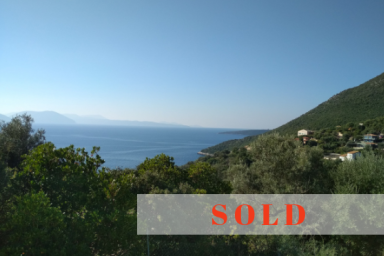 SOLD - Buildable Land in Sivota Area with Sea View (Palm land II)
