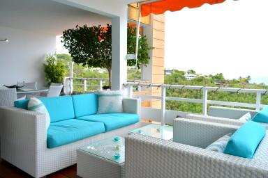 Duplex Eeva - Tahiti - Punnauia - 3 chambres, vue Moorea, piscine - 5 pers
