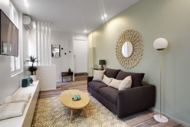 Trendy 55sqm one-bedroom apartment in Montorgueil