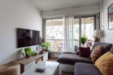Superbe appartement de 38 m2, avec balcon, dans le 19è arrondissement