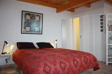 Holiday studio with spectacular view to the sea in Tías, near golf course