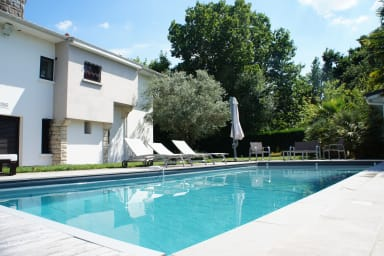 Beautiful villa 100m beach Bétey with heated pool and outbuilding