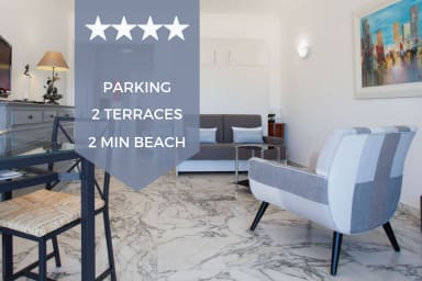 KIKILOUE ☀ 2 minutes from the beaches. 2 terraces! ☀Cannes Croisette area