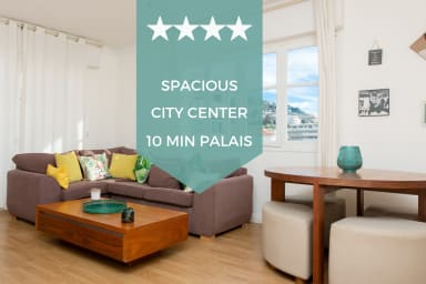 ☆ CANNES CITY CENTER ☆  2-minute walk to the beaches with parking space!
