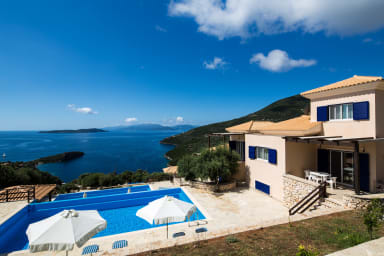 3 Modern Villas with Infinity Pool and Sea View in Sivota Bay for Sale