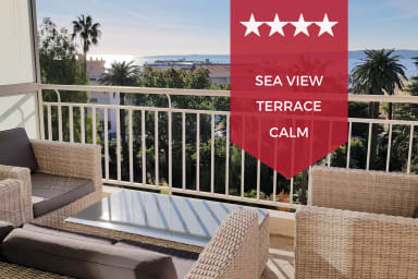 ☀️ KIKILOUE ☀️ Cannes ☀️ Joli 2p avec terrasse & magnifique vue mer !