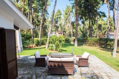 Beautiful garden terrace