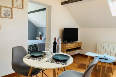 Scandinavian style apartment - for two people near Chartres