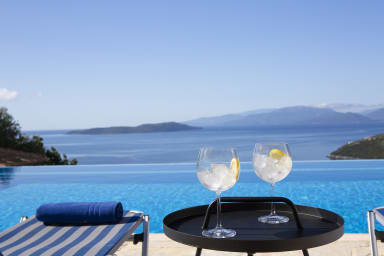 Villa Eleona - úchvatný výhľad na more a záliv Sivota