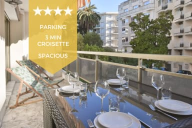 KIKILOUE – 2-bedroom apartment with terrace & parking, heart of Cannes!