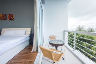 Connected balcony  with master bedroom