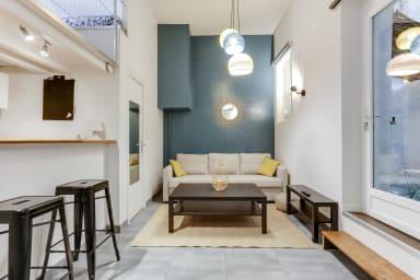 Superbe studio avec terrasse et climatisation - Écusson/Préfecture