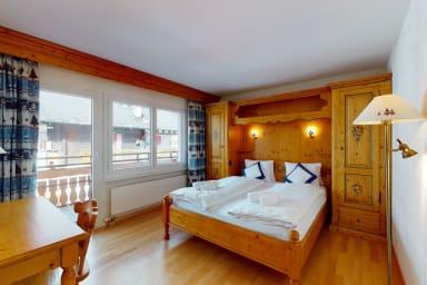 Appartement #31, résidence Gonenstein à Leukerbad, balcon orienté sud