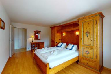 Appartement #32, résidence Gonenstein à Leukerbad, balcon orienté sud
