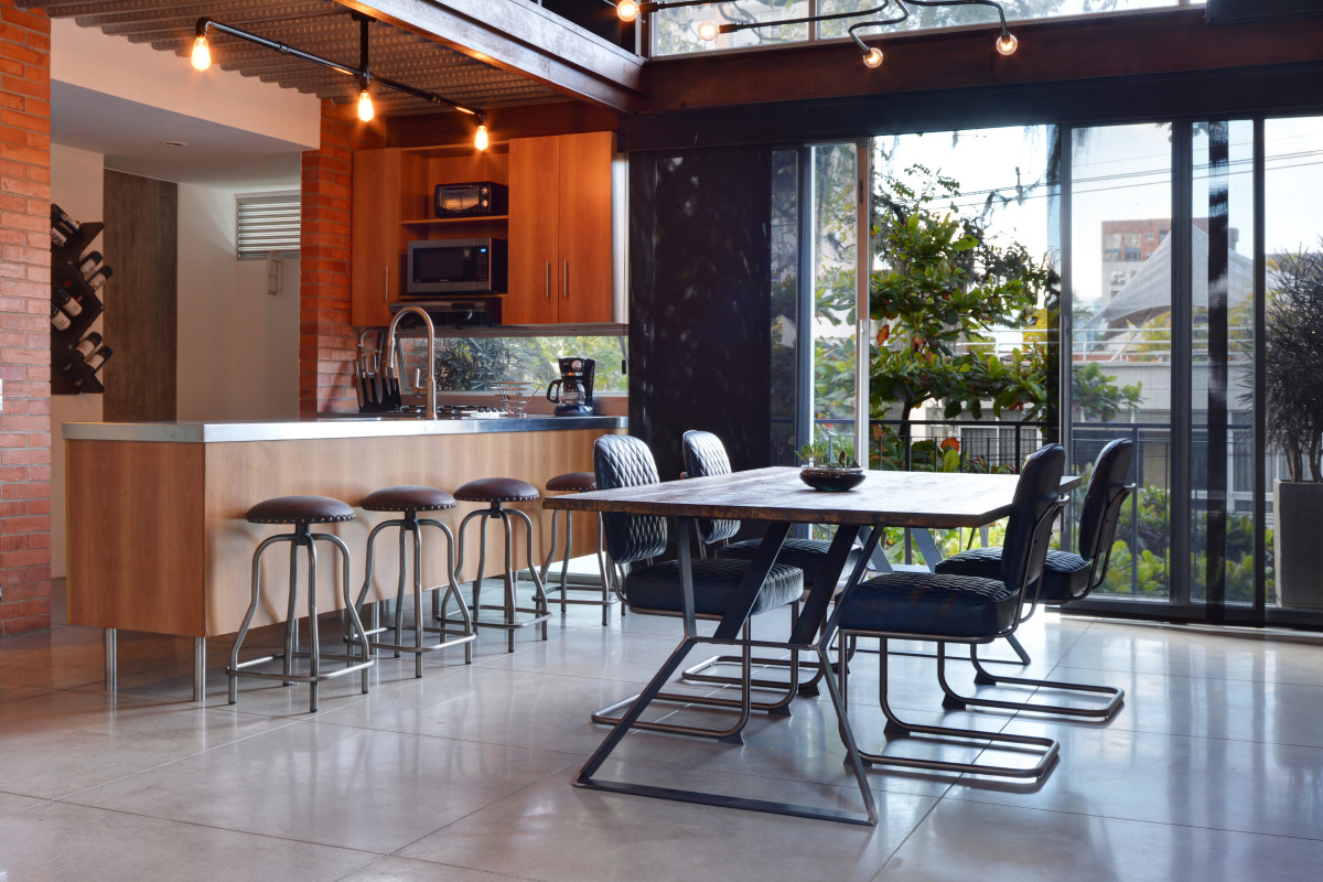 One of the finest 2 level lofts building in Medellin. Astorga Lofts 301 Duplex Loft that Oozes Style With Every Detail