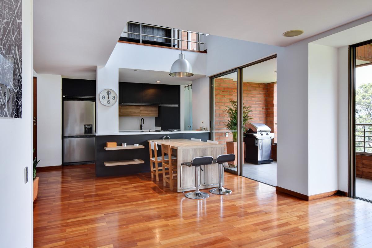 La manuela stylish duplex penthouse dictates layout and style in