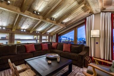 luxury ski holidays - Courchevel - Living room - Chalet Nanuq