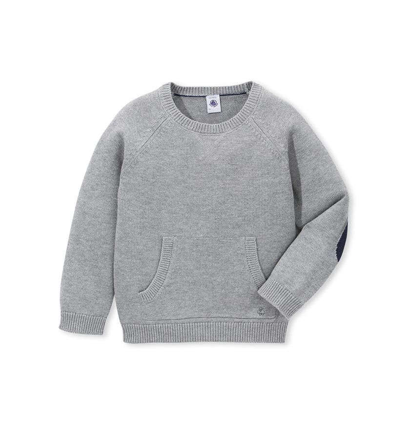 Boy's wool and cotton knit sweater
